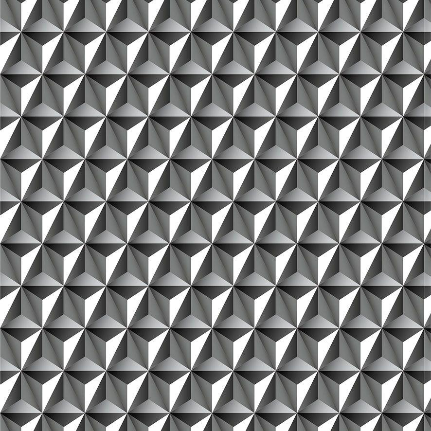 Papel de Parede 3D Geométrico Triângulos Adesivo P756