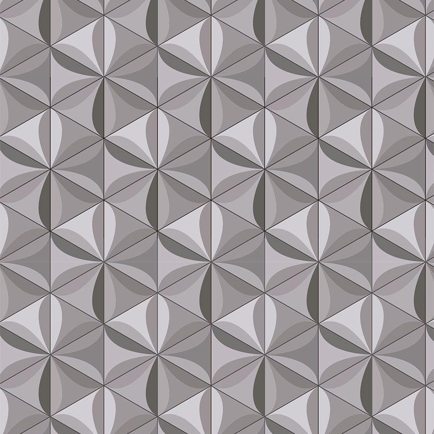 Papel de Parede 3D Geométrico Triângulos Adesivo P757