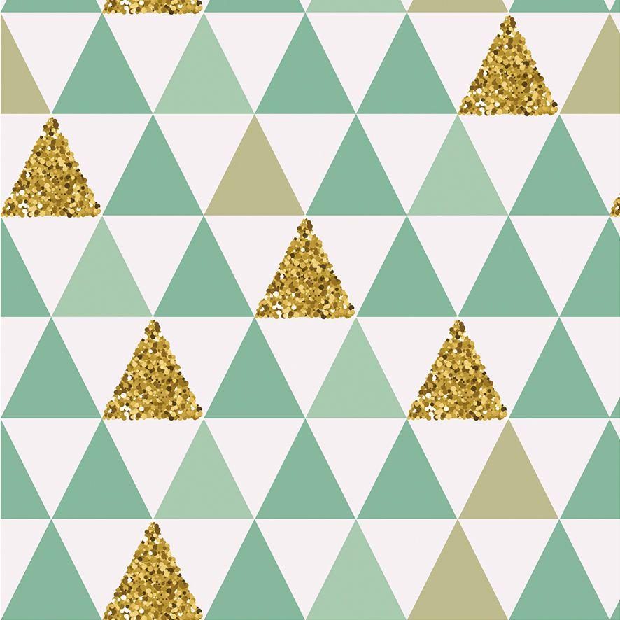 Papel de Parede Geométrico Abstrato Triângulos Adesivo P510