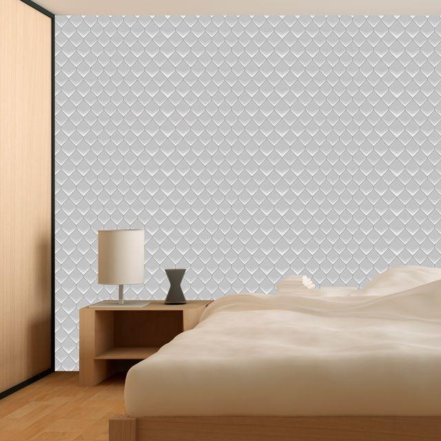 Papel de Parede Geométrico Sextavado 3D Adesivo P296