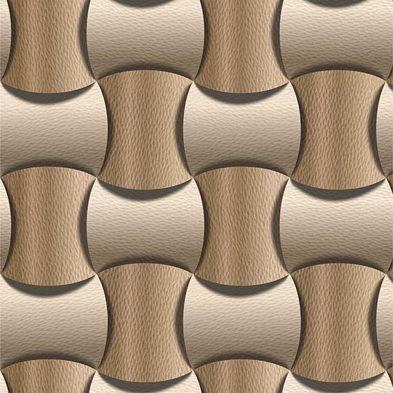 Papel de Parede Geométrico 3D Aspecto Couro Zig Zag Adesivo P036