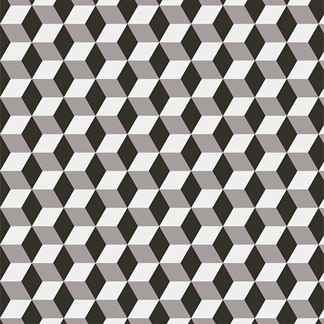 Papel de Parede 3D Cubos Geométrico Quadrados Adesivo P033
