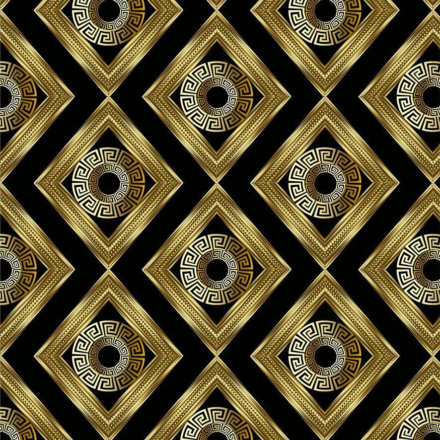 Papel de Parede Geométrico Gold Triângulos Adesivo P804