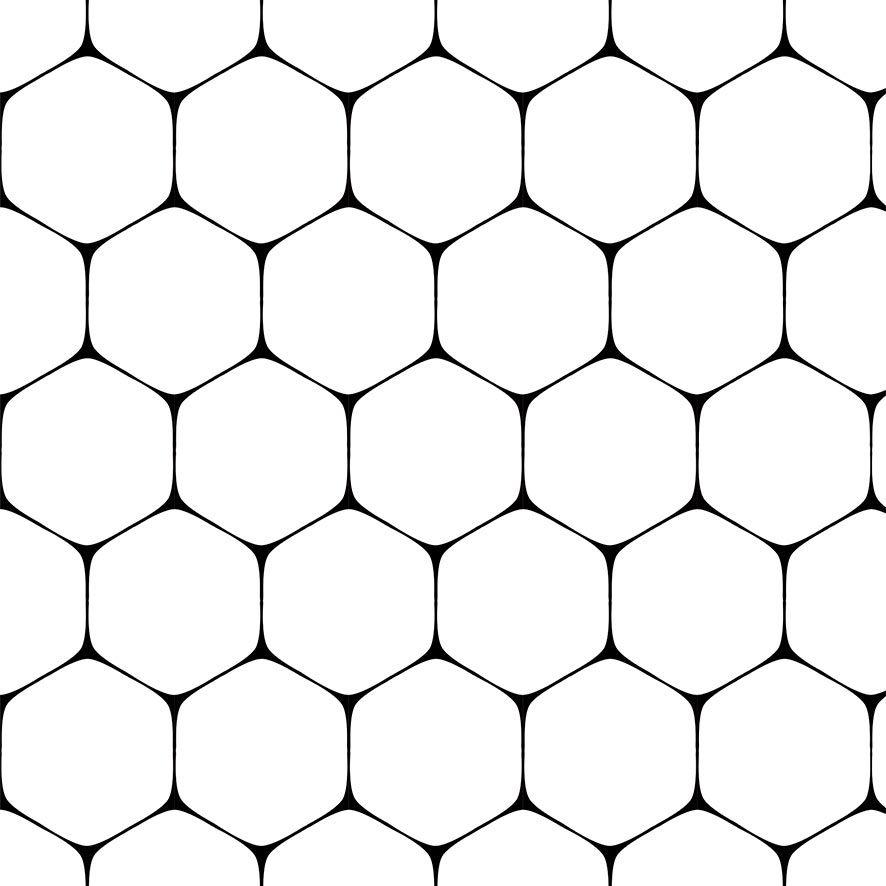 Papel de Parede Geométrico Hexágono Adesivo P830