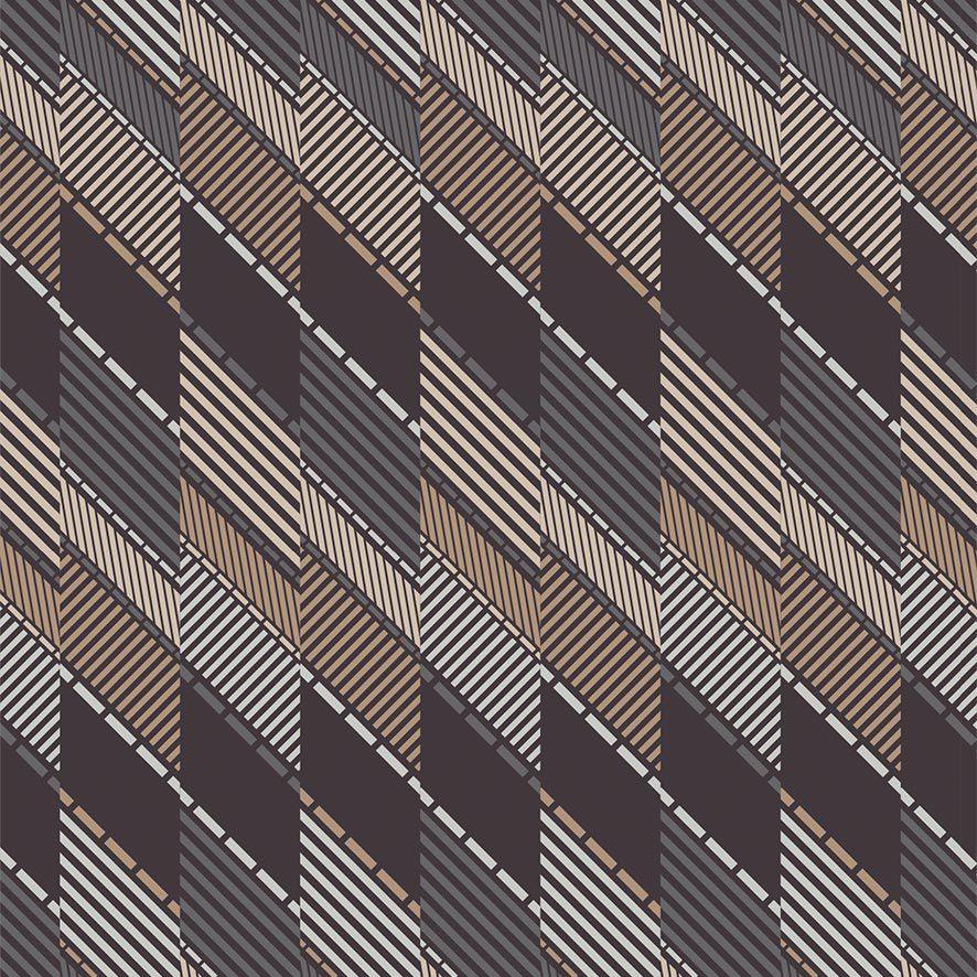 Papel de Parede Geometrico Listras Glamour Adesivo P712