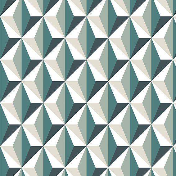 Papel de Parede Geométrico Abstrato Triângulos Adesivo P288