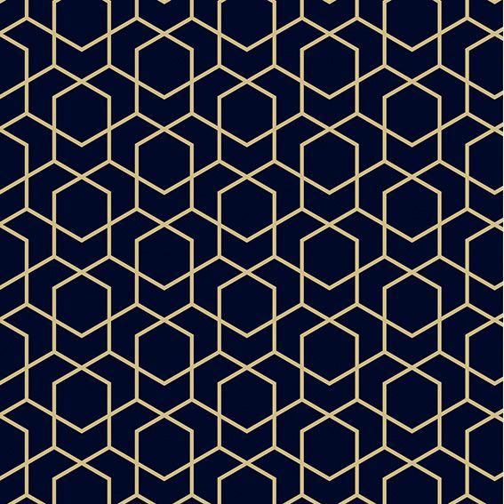 Papel de Parede Geométrico Sextavado Triangulo Adesivo P414