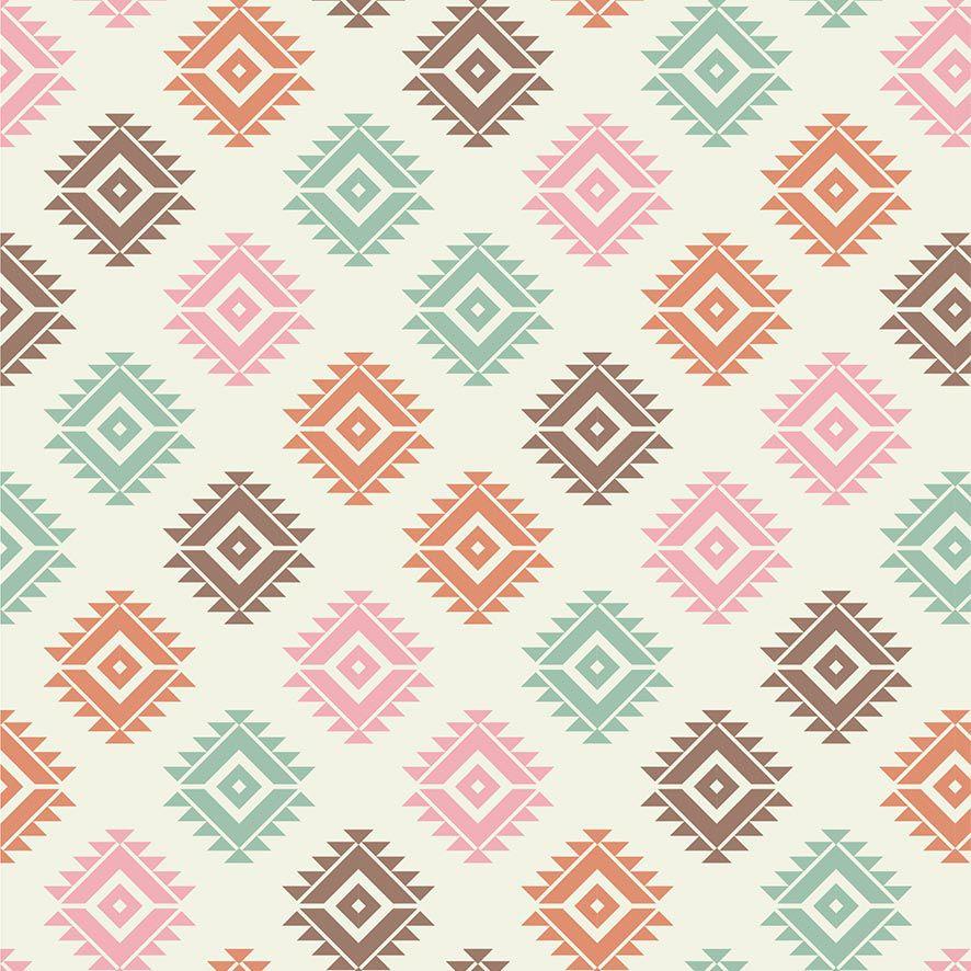 Papel de Parede Geométrico Triângulos Colorido Adesivo P718