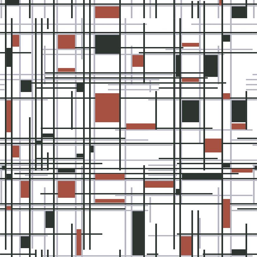 Papel de Parede Geométrico Riscados Adesivo P796