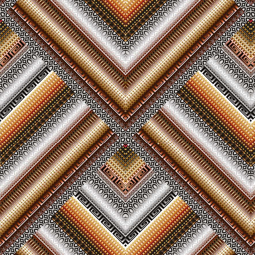 Papel de Parede Geométrico Triângulo 3D Luxuria Adesivo P801