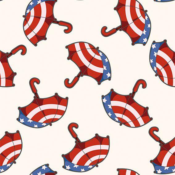 Papel de Parede Guarda Chuva Bandeira USA Adesivo P486