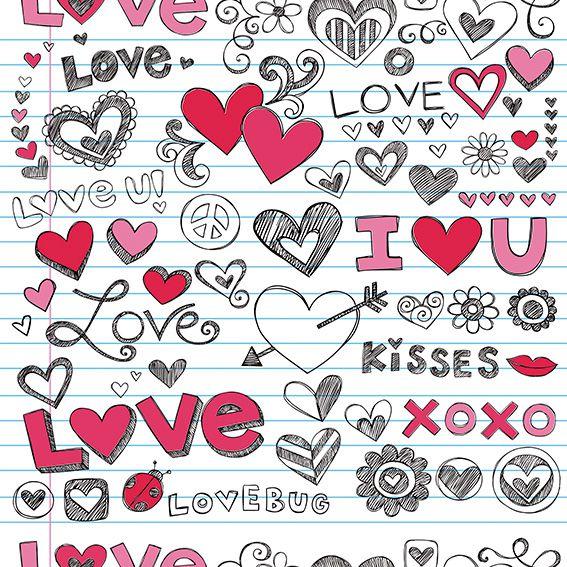 Papel de Parede Love Xoxo Corações Adesivo P446
