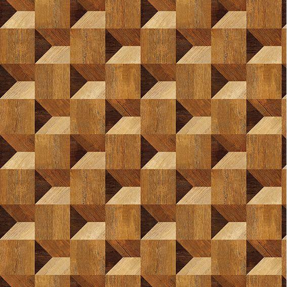 Papel de Parede 3D Madeira Geométrico Rustico Adesivo P011