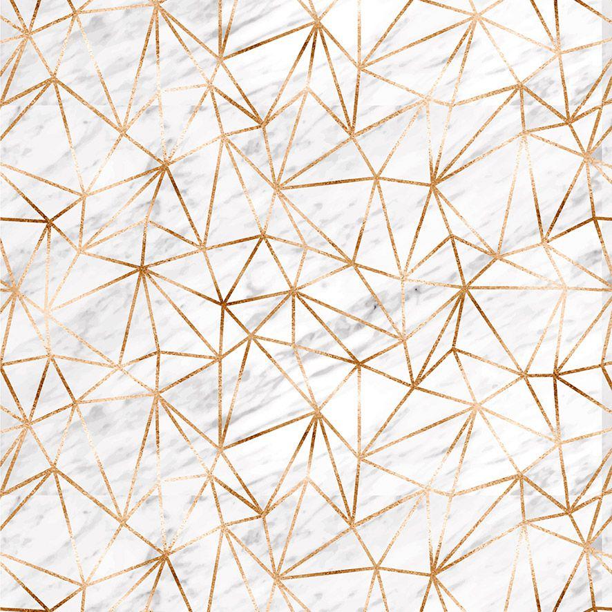 Papel de Parede Mármore Triângulo Gold Adesivo P604