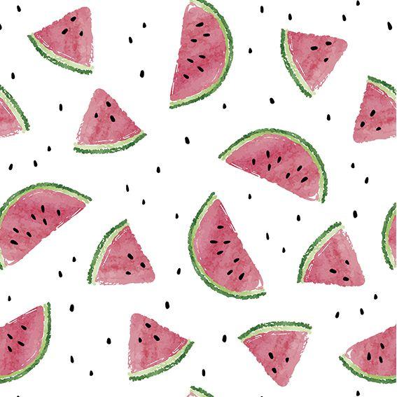 Papel de Parede Fruta Melancia Sementes Food Adesivo P405