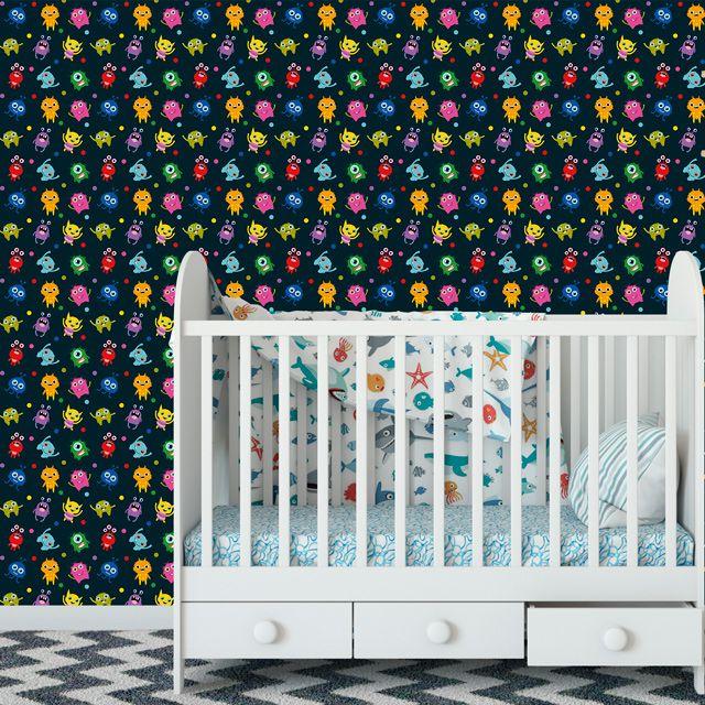 Papel de Parede Monstrinhos Bebê Poa Adesivo P370