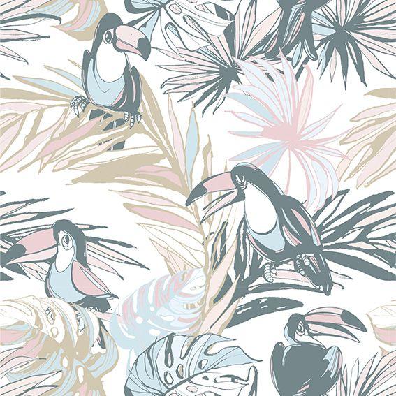 Papel de Parede Natureza Tucanos Tropical Adesivo P163