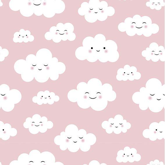 Papel de Parede Nuvens Cute Kids Adesivo P371