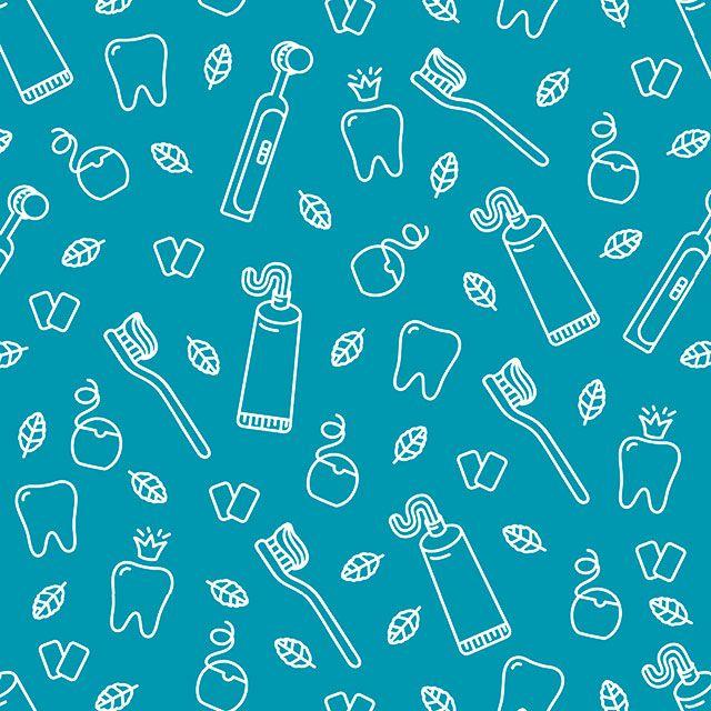 Papel de Parede Odonto Dente Escova Pasta Adesivo P131