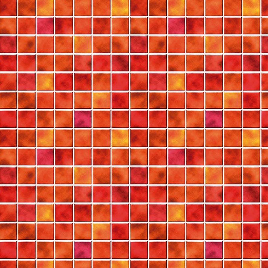 Papel de Parede Adesivo Pastilha Tom Vermelho P617
