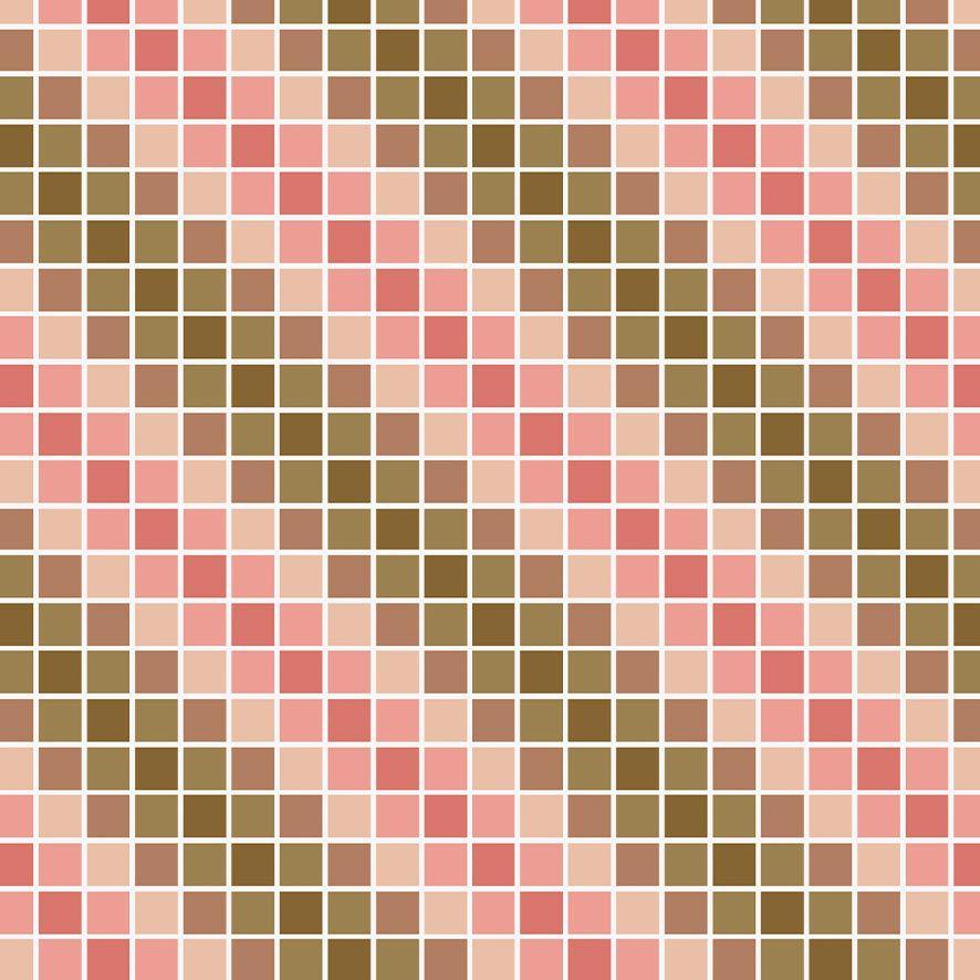 Papel de Parede Pastilhas Degrade Diversos Tons Adesivo P616