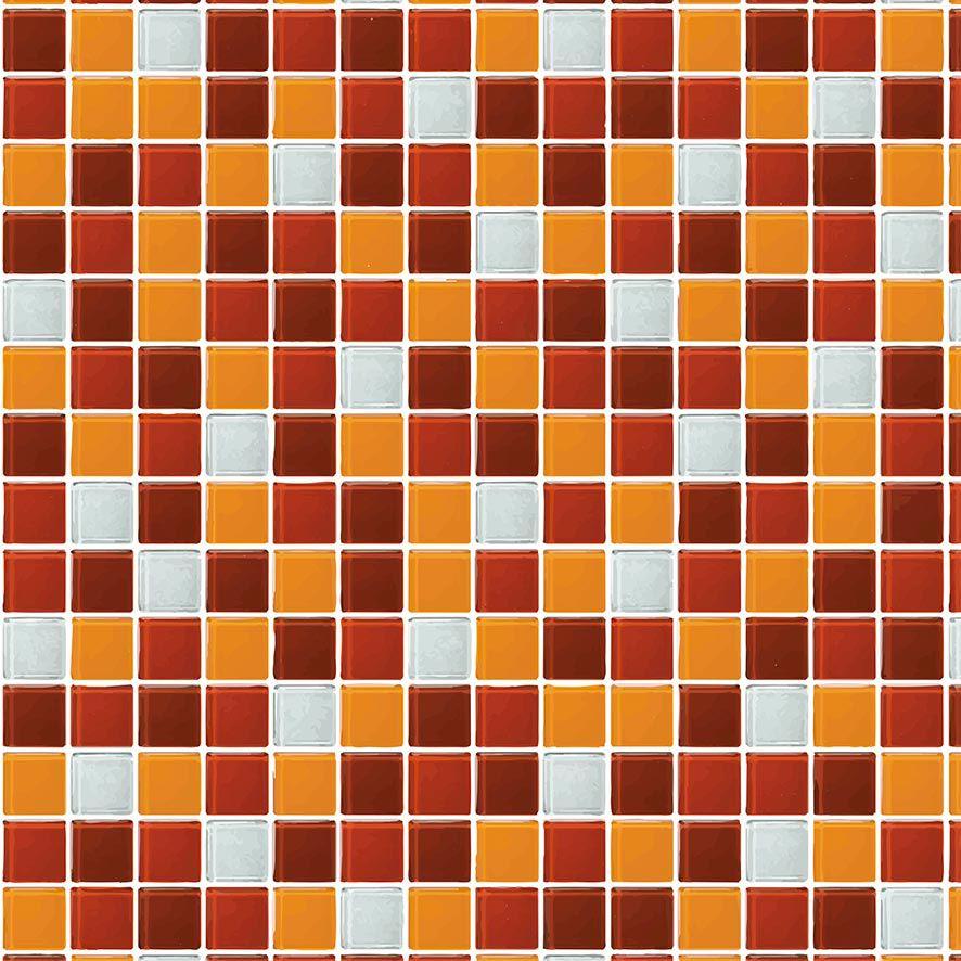 Papel de Parede Pastilhas Diversos Tons Adesivo P710