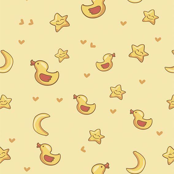 Papel de Parede Patinhos Estrelas Lua Corações Adesivo P305
