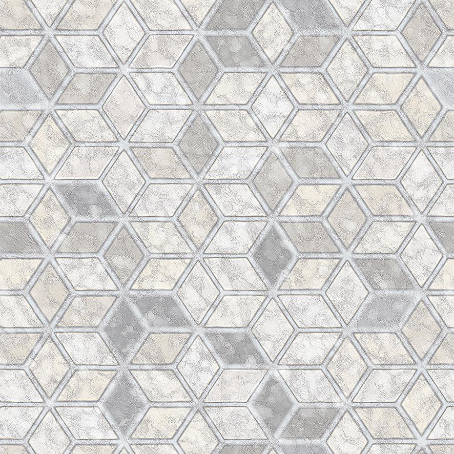 Papel de Parede Pedra Rusticas Cimento Triângulos Adesivo P639