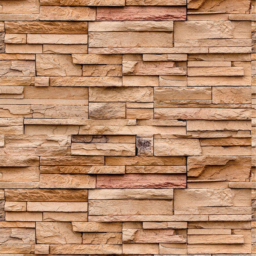 Papel de Parede Pedras Canjiquinhas Rustica Adesivo P588