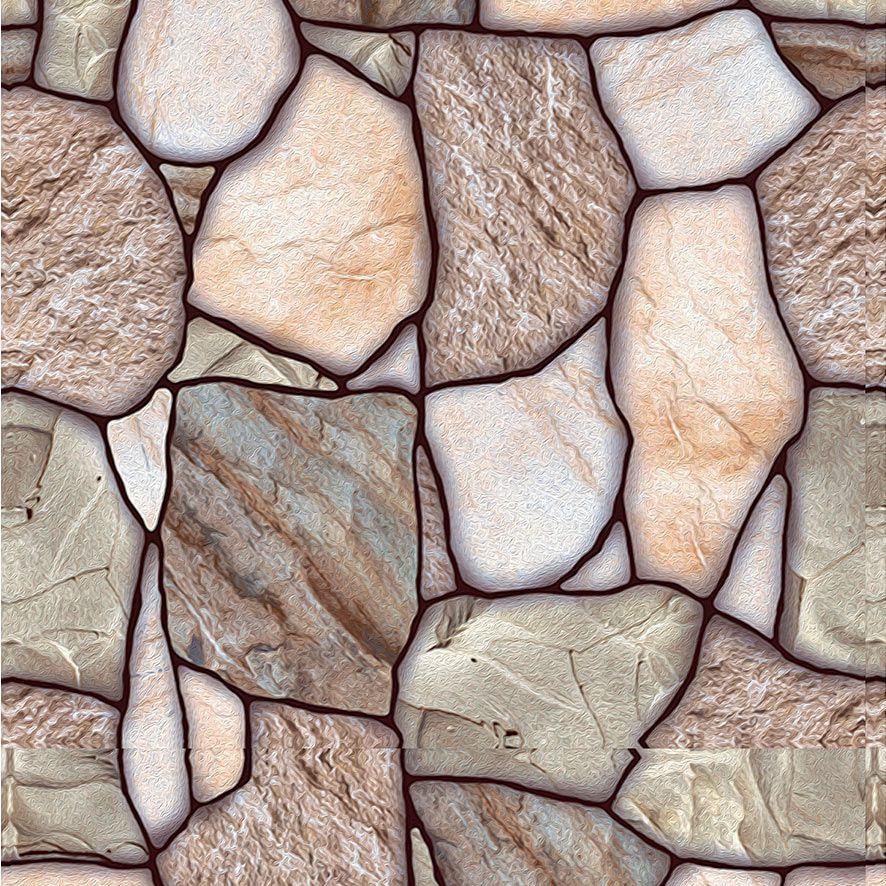 Papel de Parede Pedras Rusticas Diversos Tons Adesivo P559