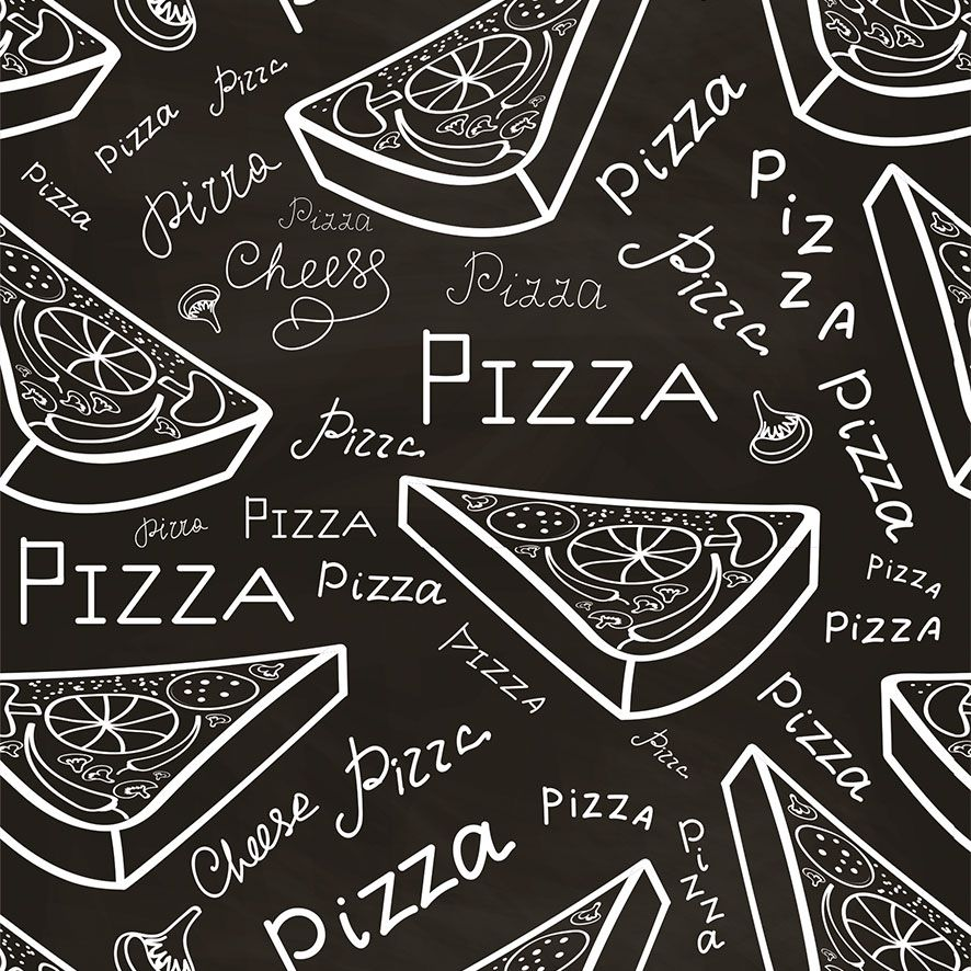 Papel de Parede Pizzaria Pizza Adesivo P764