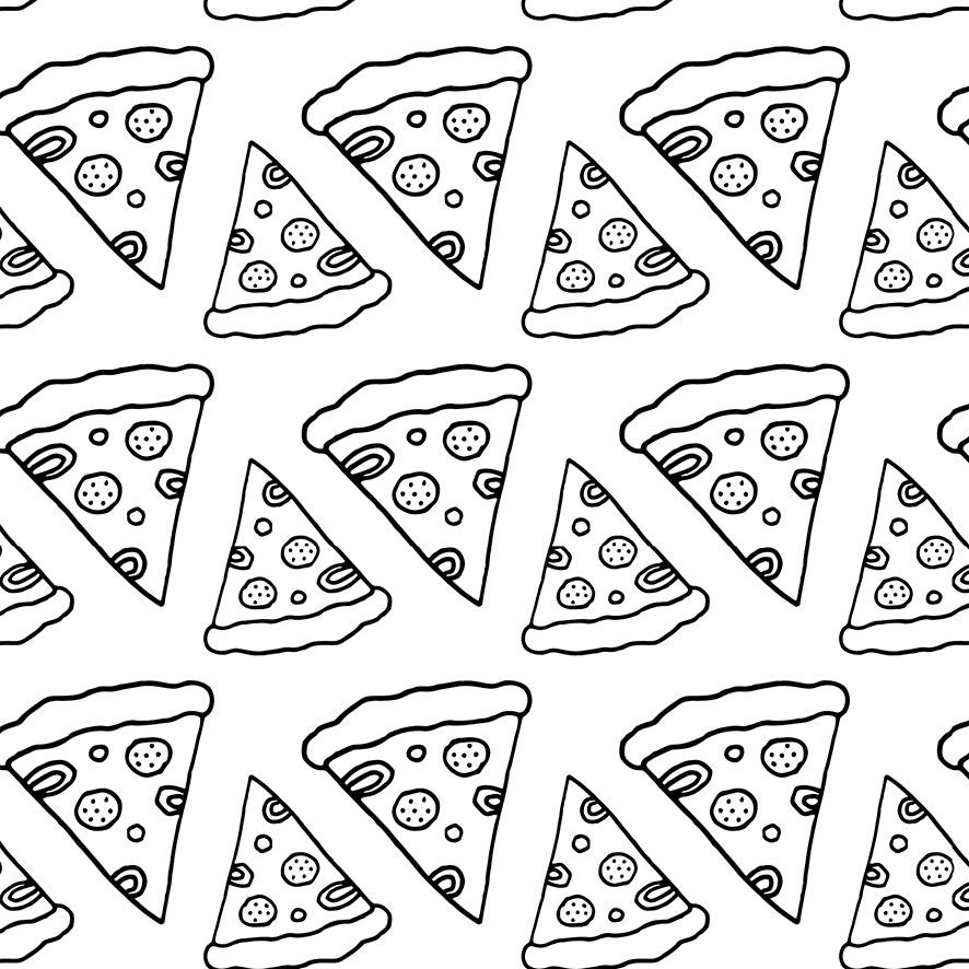Papel de Parede Pizzaria Pedaços Pizza Adesivo P766