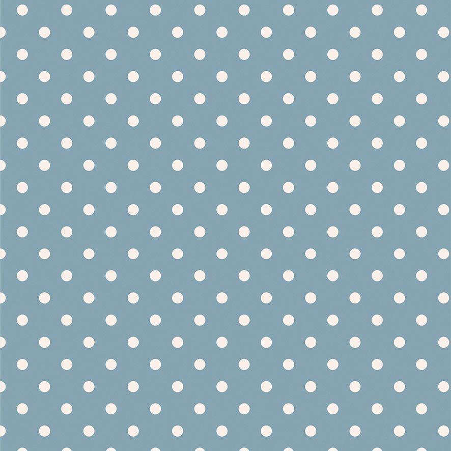 Papel de Parede Poa Bolinhas Branco Adesivo P655