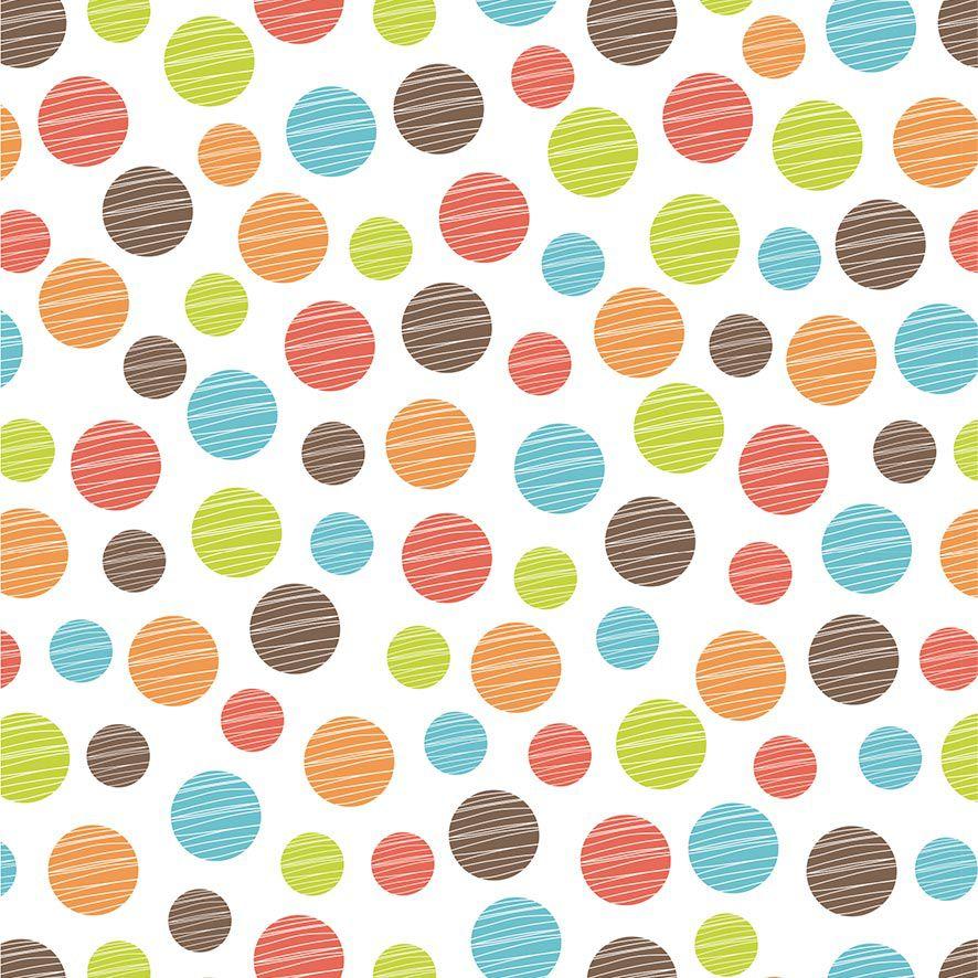 Papel de Parede Poa Bolinhas Coloridas Kids Adesivo P633