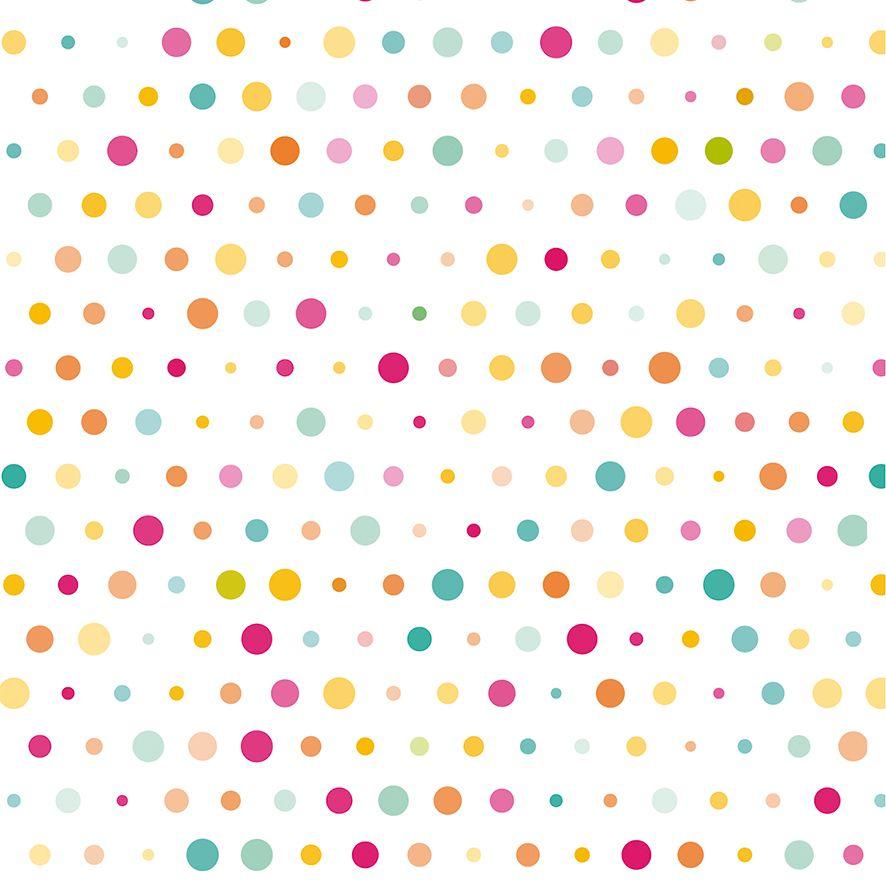 Papel de Parede Poa Colorido Bolinhas Adesivo P583