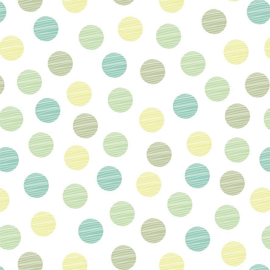 Papel de Parede Adesivo Poa Tons Verde P627