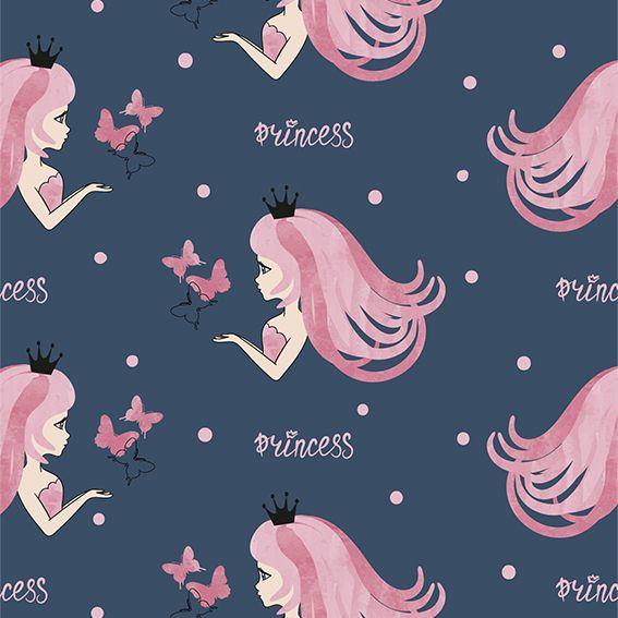 Papel de Parede Princesas Borboletas Poa Adesivo P280
