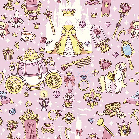 Papel de Parede Princesa Carroagem Castelo Adesivo P294