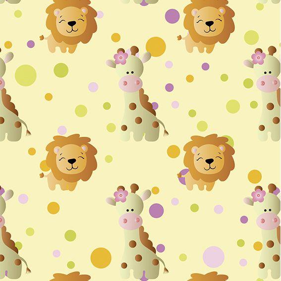 Papel de Parede Safari Zoologico Bebê Poa Adesivo P402