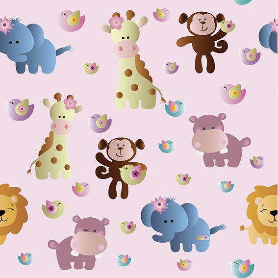 Papel de Parede Safari Zoologico Bebê Adesivo P385