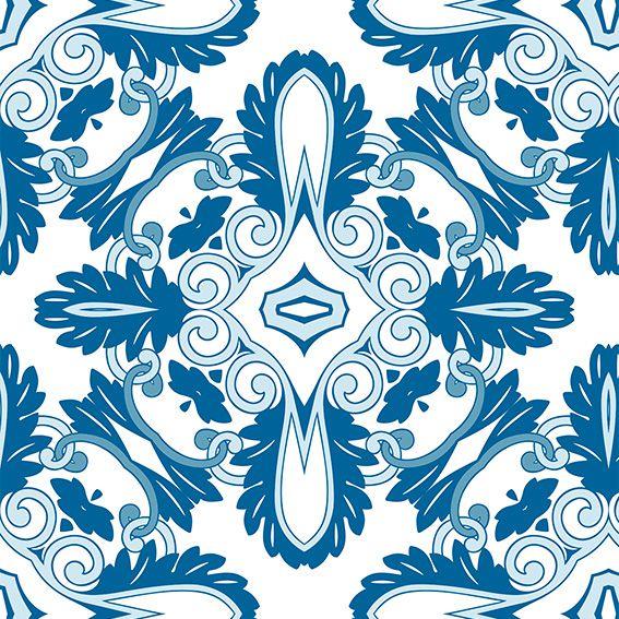 Papel de Parede Damask Textura Vitange Adesivo P499