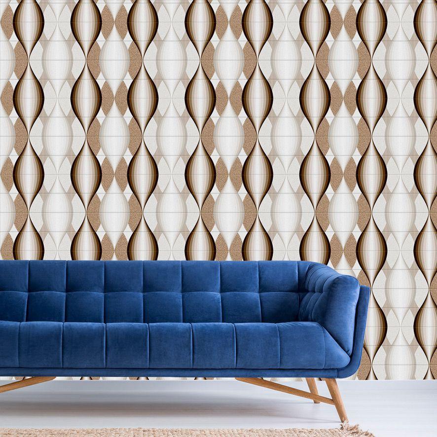 Papel de Parede Textura Geométrico Glamour Luxo Adesivo P557