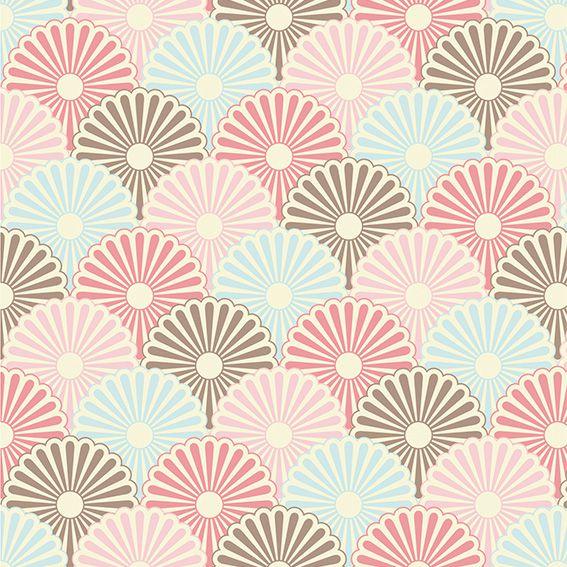 Papel de Parede Geométrico Floral Japonês Adesivo P442