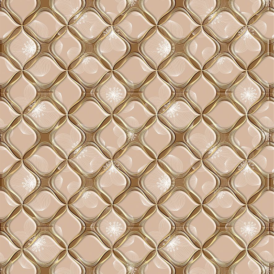 Papel de Parede Textura Geométrica Floral Adesivo P564