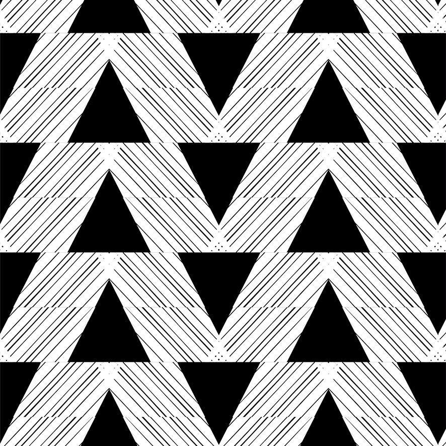 Papel de Parede Triângulo Listrado Adesivo P689