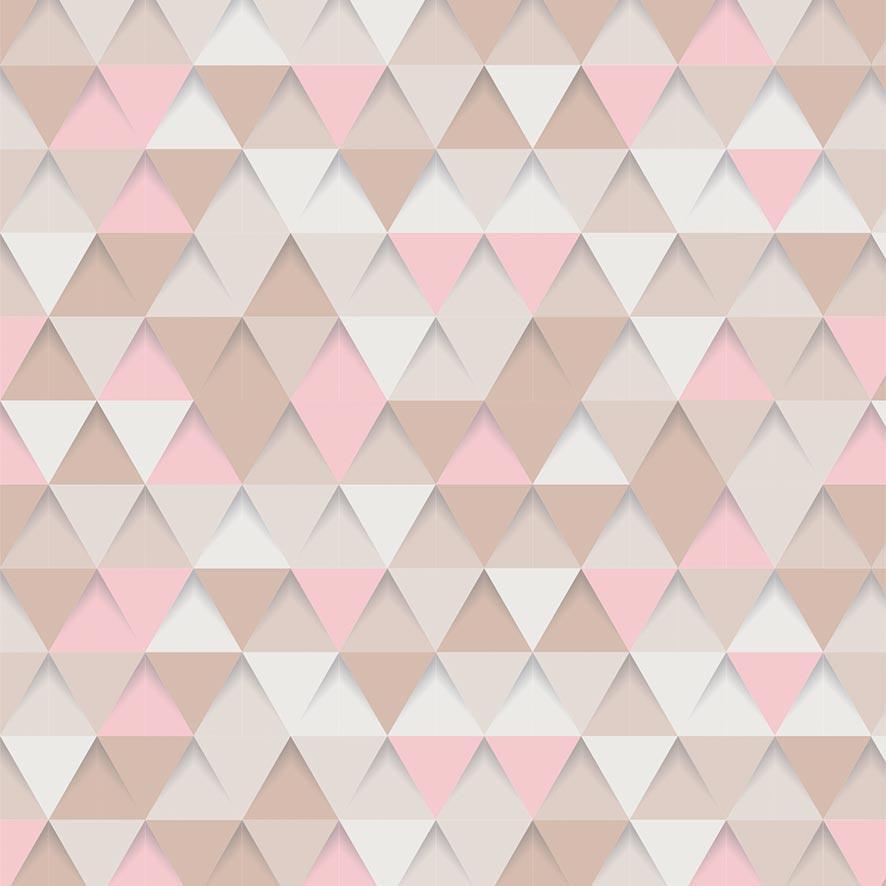 Papel de Parede Triângulos Tons Rosa Adesivo P691