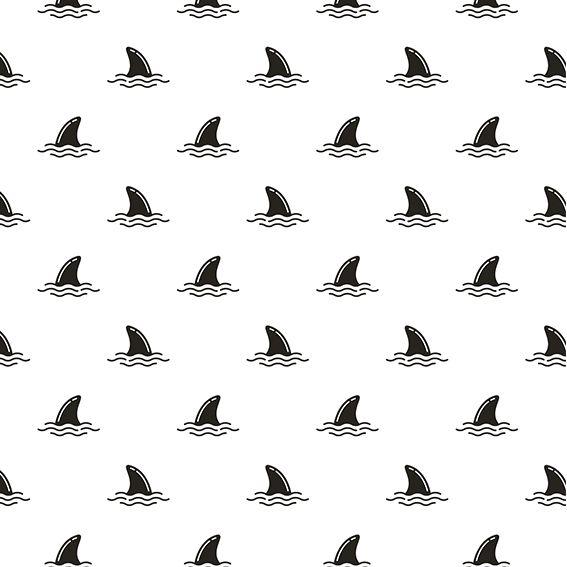 Papel de Parede Tubarões Kids Mar Adesivo P335