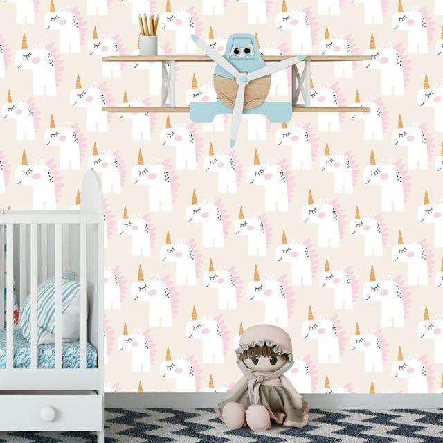 Papel de Parede Unicórnios Kids Bebê Adesivo P337