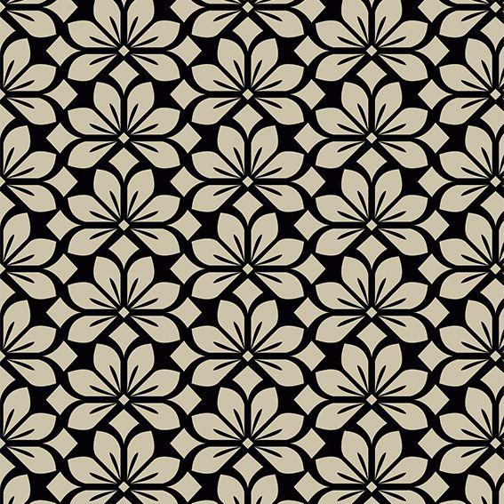 Papel de Parede Floral Creme Vintage Glamour Adesivo P439