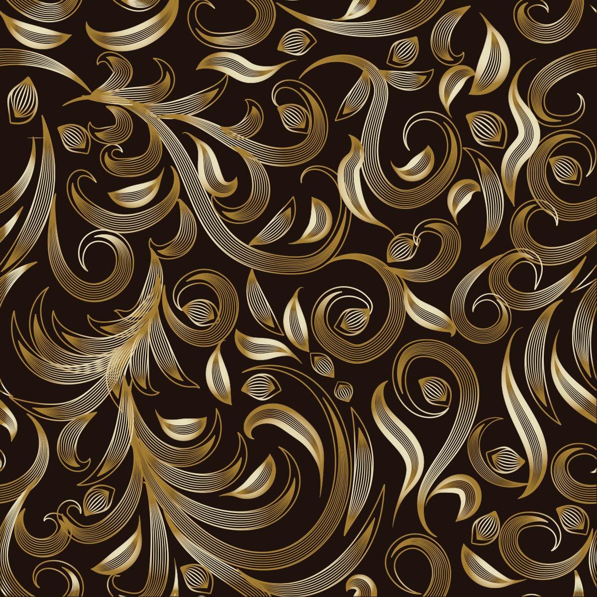 Papel de Parede Arabesco Gold Luxo Adesivo